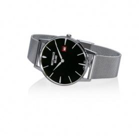 Orologio Vintage Watchmaker Milano nero con maglia milanese