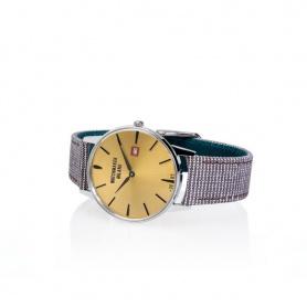 Weinlese-Uhr Watchmaker  Milano gelbes Zifferblatt - WM.00A.06