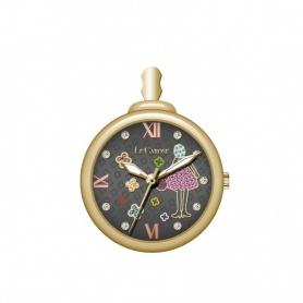 Halskette Uhr The Carose Zeit Zwiebel Mini schwarz