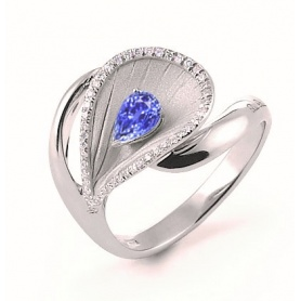 Annamaria Cammilli Premier ring with Diamonds and Sapphire GAN2075W