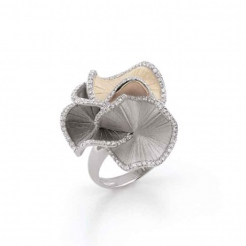 Annamaria Cammilli Sultana ring in gold and diamonds-GAN1814