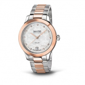 Rose gold and steel Ladies watch Eberhard Aiglon-42035. S
