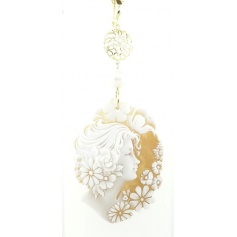 Italian Cameo pendant necklace with Cameo woman face