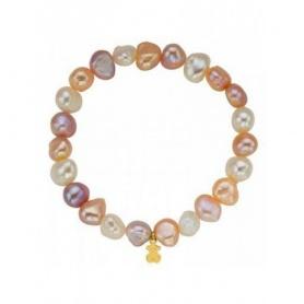Bracciale Tous perle barocche multicolor medio con orsetto