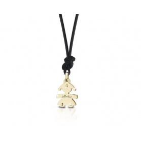 Die Mini-gelb gold Anhänger Halskette: das Babymädchen