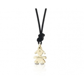 The mini yellow gold pendant necklace: the baby girl