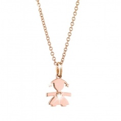 The Bricciolei The Infant girl necklace rose gold