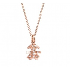 The Bricciolei The Infant Baby pendant necklace gold and diamonds