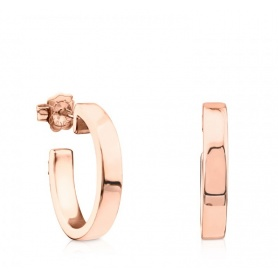 612543520 small hoop earrings Tous Lio Rosé-