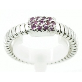 Ring white gold and Amethyst gas pipe model