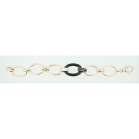 Silber vergoldet Zirkonia und Emaille Phidias Kette Armband