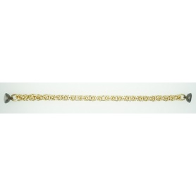 Bracciale Fidia maglia bizantina in Argento dorato - B759/GN