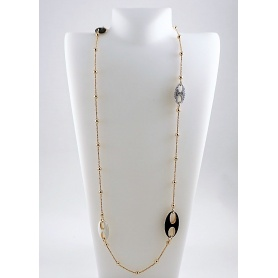 Collana chanel Fidia in argento rosè e smalto - C738/A