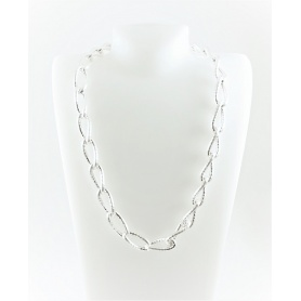 Collana motivo catena Fidia intrecciata in argento satinato - C738/A