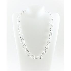 Geflochtene Kette Halskette Silber-C738/A Phidias