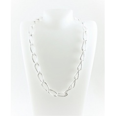 Braided chain necklace silver-C738/A Phidias