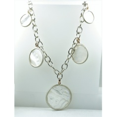 CK533C8MP necklace-Pearl-Shelley with Mimi medallions