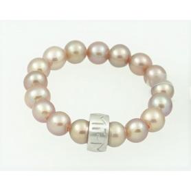 Anello Mimì perle viola piccole con e argento - A023SXV