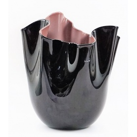 Venini vase Handkerchief two-tone Black / Purple Medium - 700.02N