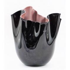 Venini vase Handkerchief two-tone Black / Purple Medium - 700.02N