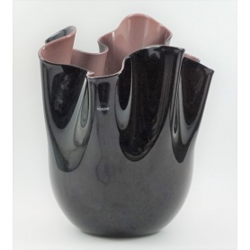Black/purple Handkerchief vase large-700.00 N Venini