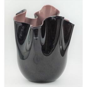 Schwarz/Lila Taschentuch Vase groß-700,00 N Venini