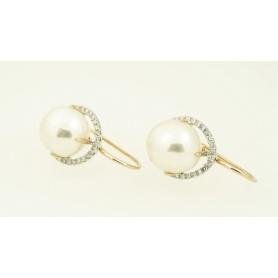 Orecchini Mimì Victoria in oro bianco con perla Barocca e diamanti