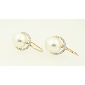 Victoria Baroque Pearl Earrings white gold, Mimi and diamonds