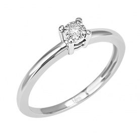 Solitaire ring Diamond Dew Bliss