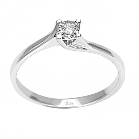 Solitaire ring Diamond Dew Valentine Bliss