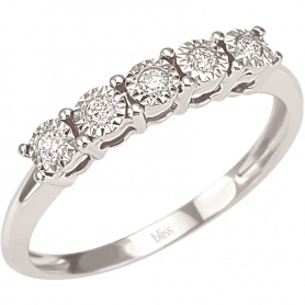 Diamond Eternity ring with five Diamonds Splendor-Bliss 20069988