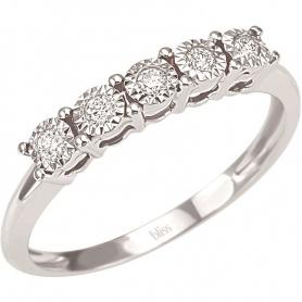 Ewigkeit Diamantring mit fünf Diamanten Pracht-Bliss 20069988