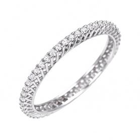 Anello Veretta Circolare Bliss Frist Class con Diamanti