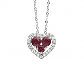 Infinite Bliss Love necklace with rubies and diamonds