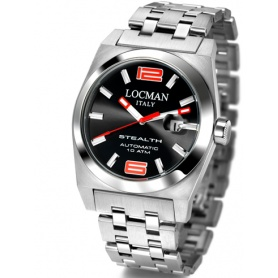 Orologio Locman Stealth Automatico indici rossi Ref.205