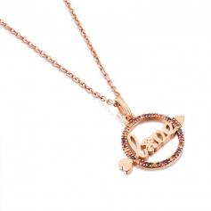 Tous necklace Valentine Love rose Sapphires Arrow-715304540
