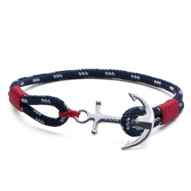 Tom Hope bracelet with anchor and blue and Red lanyard-Atlantic Red