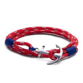 Tom Hope Armband mit Anker und rote Kordel mit drei-Artic3