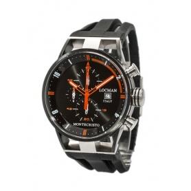 Locman Uhren Montecristo Crono Quarz schwarz und orange Ref. 510