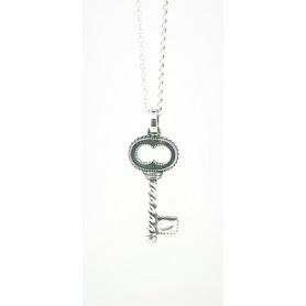 Acht große silberne Schlüssel Halskette Schmuck Linie Torcolo