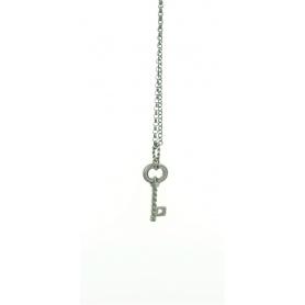 Collana Otto Gioielli chiave piccola in argento brunito linea Torcolo