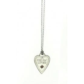 Acht große Herz Schmuck Halskette Feelin ' liebte rot Saphir