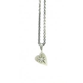 Kleines Herz Schmuck in Silber und Diamant Halskette acht Eis