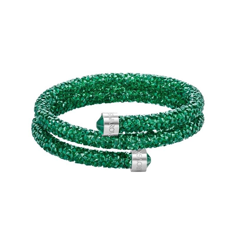 Double wrap Bracelet Swarovski Fuchsia Crystaldust S-5292450