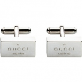 Gemelli rettangolari Gucci Trademark in argento - YBE01109900100U