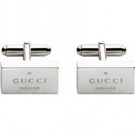 Gucci Marke rechteckige Manschettenknöpfe in Silber-YBE01109900100U