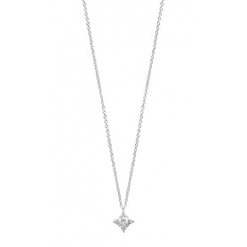 Luminous collection necklace Salvini in white gold and diamonds-20072886