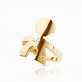 The gold and diamond ring Baby boy Hugs line-LBB121