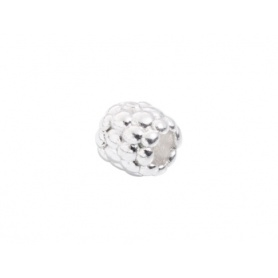 Silver beads small Blackberry Civita by Queriot