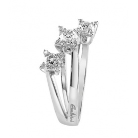 Trilogy ring Salvini Luminous collection in white gold and diamonds.